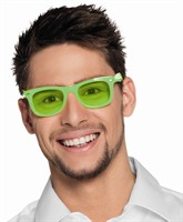 Glasses with glass neon green