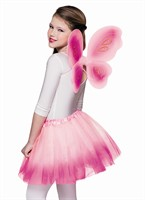 Set fairy rose/ pink (tulle skirt + wing)