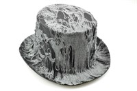 Top Hat with rags grey