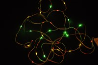 Chain of lights red/yellow/green  30 LED lights incl. batteries