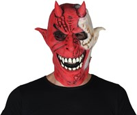Mask devil red/white