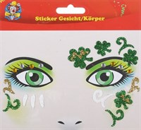 Sticker face / body shamrocks