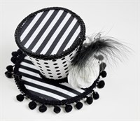 Mini top Hat black/white