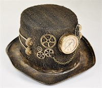 Top hat steampunk gold + decoration