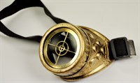 Monocle gold crosshair steampunk