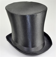 Top Hat satin black size 59