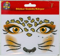 Face/body sticker leopard