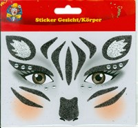 Body/face sticker zebra