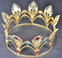 Crown gold with stones multi