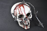 Skull with LED  incl batteries