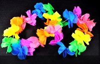 Hawai necklace neon colors colorful