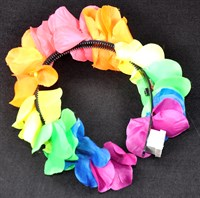 Headband Hawai colorful neon with LED
