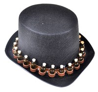 Top Hat black with mini bottles