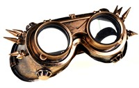Glasses Steampunk gold decorated