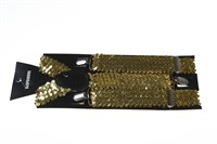 Braces sequins gold