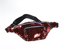 Bumbag red sequins
