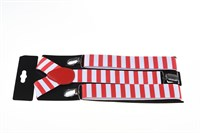 Suspenders red / white striped