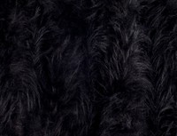 Fur long hair black 150cm wide