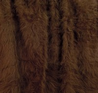 Fur long hair brown bear 150 cm wide