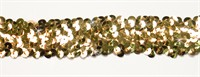 Braid trimming sequins gold elastic 30mm wide