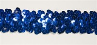 Band pailletten blauw elastisch 30mm breed