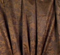 Leather-look old finish dark brown 150 cm wide