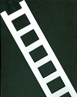 Badge ladder (l) white