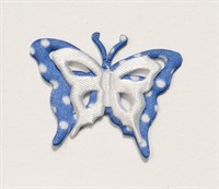 Butterfly blue with white dots (35mm w.)