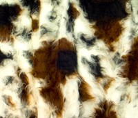 Fur long hair cow multi 150cm wide