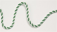 Club cord green/white  per meter