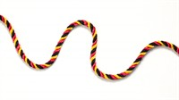 Club cord red/yellow/black  per meter