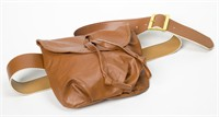 Belt with bag cognac 135 cm