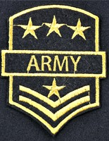 Emblem army (stars+stripes) 7x9xcm
