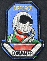 Emblem Air Force Commander 10x7cm