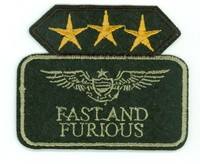 Emblem fast and furious 6x7cm