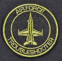 Emblem air force troubleshooter Ø 7cm