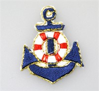 Emblem anchor dark blue