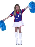 Cheerleader red / white / blue