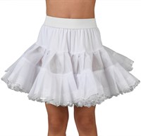 Petticoat child luxurious silver