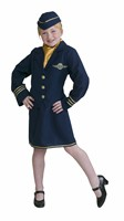 Stewardess (Jacke/Rock/Haube/Schal)