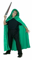 Cape Halloween light green with cap