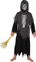 Skeleton dress with cap