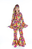 Flower Power (Girl) broek,blouse,hoofdband