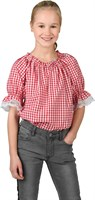 Western blouse rood/wit