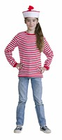 Red/white striped jumper