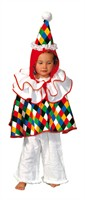 Clown cape (cape with collar and a hat)