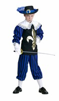 Musketeer blue/black (top with collar/trousers)