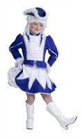 Majorette blue/white (skirt, jacket)