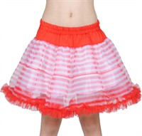 Petticoat strepen rood/wit