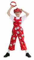 Drickes dungarees red